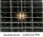 stack of metal profiles for... | Shutterstock . vector #1200131794