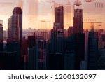 modern architecture. collage... | Shutterstock . vector #1200132097