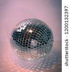 mirror ball.isolated on a dark... | Shutterstock . vector #1200132397