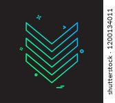 down arrow icon design vector | Shutterstock .eps vector #1200134011