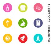 Public Library Icons Set. Flat...