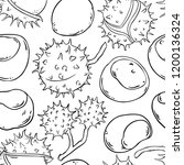 chestnut vector pattern   Shutterstock .eps vector #1200136324