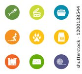 creature icons set. flat set of ... | Shutterstock .eps vector #1200138544