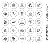 passion icon set. collection of ... | Shutterstock .eps vector #1200139174