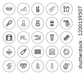 glamour icon set. collection of ... | Shutterstock .eps vector #1200139507