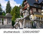 peles castle  sinaia  romania  ... | Shutterstock . vector #1200140587
