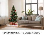 winter holidays and interior... | Shutterstock . vector #1200142597