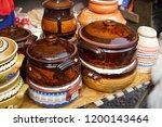 souvenir market at bran castle ... | Shutterstock . vector #1200143464