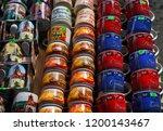 souvenir market at bran castle ... | Shutterstock . vector #1200143467