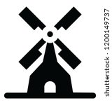 windmill icon with eolic wind... | Shutterstock .eps vector #1200149737