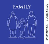 family. mom  dad and daughter.... | Shutterstock .eps vector #1200153127