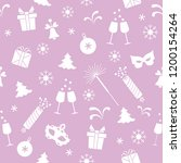 seamless pattern with new year... | Shutterstock .eps vector #1200154264