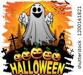 halloween design template with... | Shutterstock .eps vector #1200161821