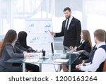 attentive business partners... | Shutterstock . vector #1200163264