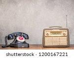 retro portable broadcast radio... | Shutterstock . vector #1200167221