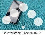 people use smartphone... | Shutterstock . vector #1200168337