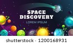 space discovery concept... | Shutterstock .eps vector #1200168931