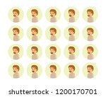 vector young adult man avatars... | Shutterstock .eps vector #1200170701