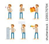 vector young adult man in... | Shutterstock .eps vector #1200170704
