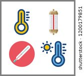 forecast icon. thermometer...   Shutterstock .eps vector #1200179851