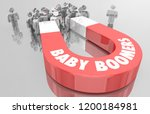 baby boomers demo group magnet... | Shutterstock . vector #1200184981