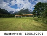 pasture green mountain... | Shutterstock . vector #1200192901