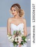 portrait of beautiful bride.... | Shutterstock . vector #1200206107