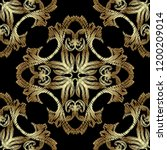 gold embroidery baroque... | Shutterstock .eps vector #1200209014