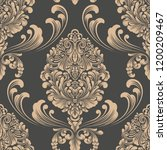 vector damask seamless pattern...   Shutterstock .eps vector #1200209467