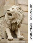 lion sculpture as classic... | Shutterstock . vector #1200209584
