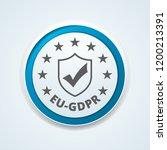 eu gdpr confirm button... | Shutterstock .eps vector #1200213391