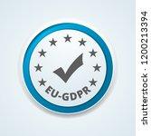 eu gdpr confirm button... | Shutterstock .eps vector #1200213394