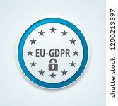 eu gdpr confirm button... | Shutterstock .eps vector #1200213397