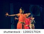 a young bharatnatyam artist... | Shutterstock . vector #1200217024