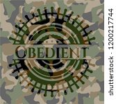 obedient on camouflaged pattern | Shutterstock .eps vector #1200217744