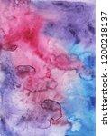 watercolor colorful fantasy... | Shutterstock . vector #1200218137