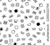 laundry symbols seamless vector ... | Shutterstock .eps vector #1200222754