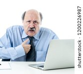 angry and tired mature... | Shutterstock . vector #1200226987