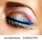 Постер, плакат: Eye Makeup Beautiful Eyes