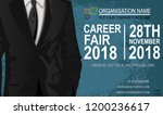 career fair flyer   poster. job ... | Shutterstock .eps vector #1200236617