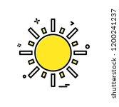 sun icon design vector   Shutterstock .eps vector #1200241237