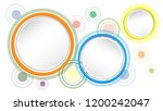 colorful circle abstract... | Shutterstock .eps vector #1200242047