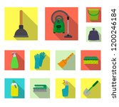 isolated object of cleaning and ... | Shutterstock .eps vector #1200246184