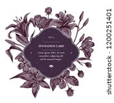 invitation card badge over... | Shutterstock .eps vector #1200251401