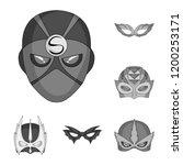 vector design of hero and mask... | Shutterstock .eps vector #1200253171