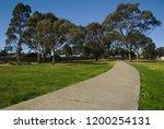 clean footpath in public park...   Shutterstock . vector #1200254131