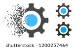 cogwheel icon in dispersed ... | Shutterstock .eps vector #1200257464