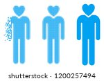 lover man icon in disappearing  ... | Shutterstock .eps vector #1200257494