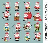 santa clauses set for... | Shutterstock .eps vector #1200259147