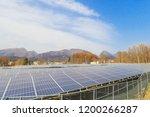 solar power panels ... | Shutterstock . vector #1200266287